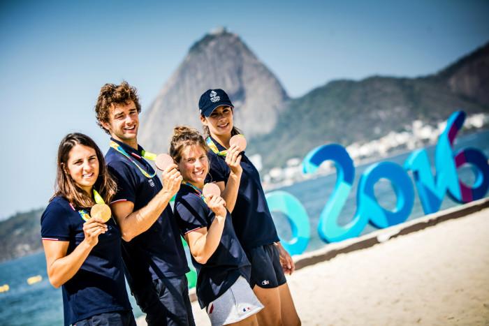 Rio2016 Médailles Charline, Pierre, Camille & Hé