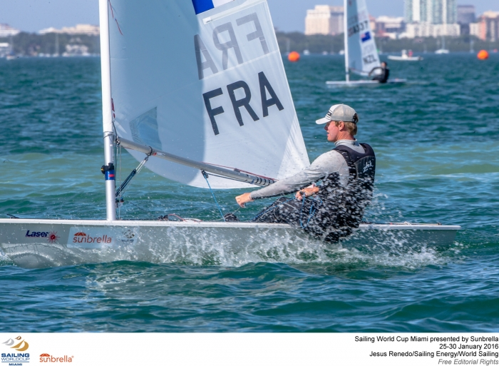 ISAF Sailing World Cup Miami : Jean-Baptiste Bernaz m�daille d