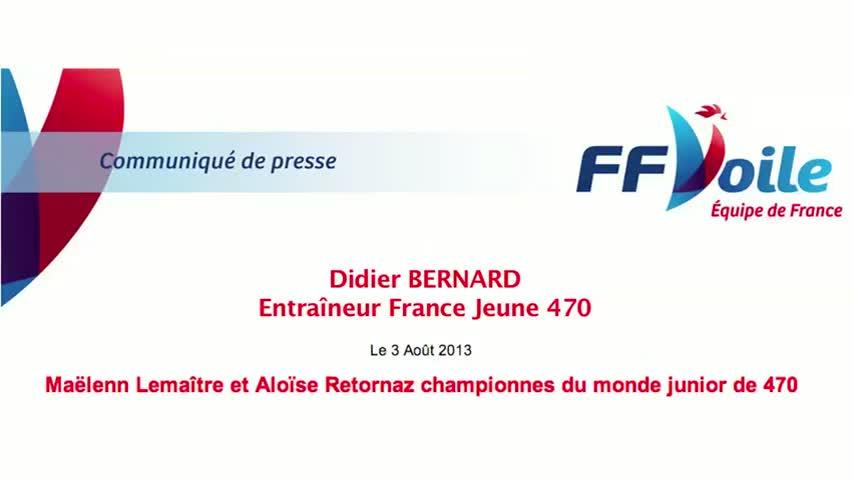 2013 Championnat Monde Jeune 470 Didier Bernard