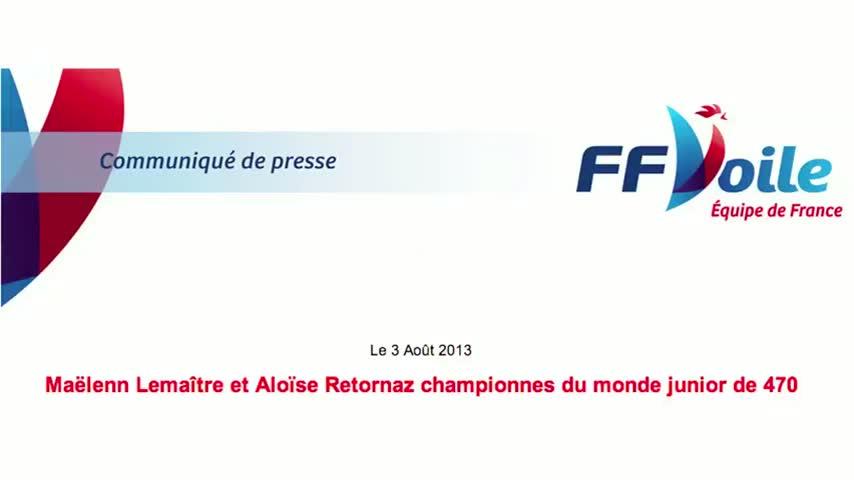 2013 Championnes Monde Jeune 470 Lemaitre Retornaz