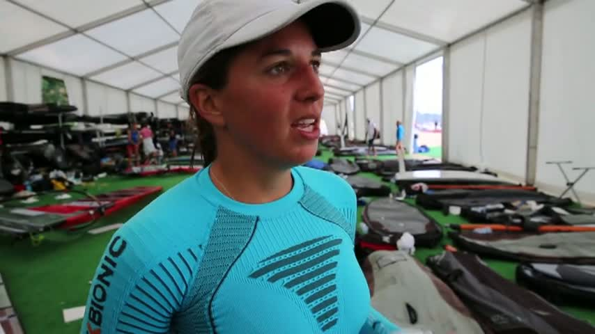 2014 Isaf World Santander rsxw Charline Picon Jour1