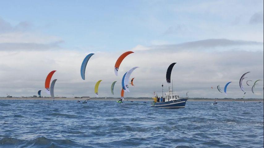 2e journée de l'Engie Kite Tour à Lorient-Gâvres