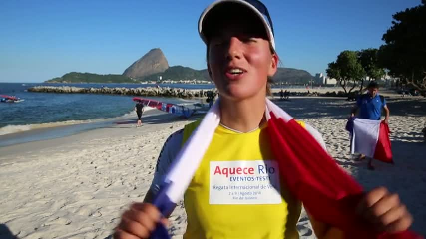 Rio TestEvent2014 Charline PICON Premiere RSX Women
