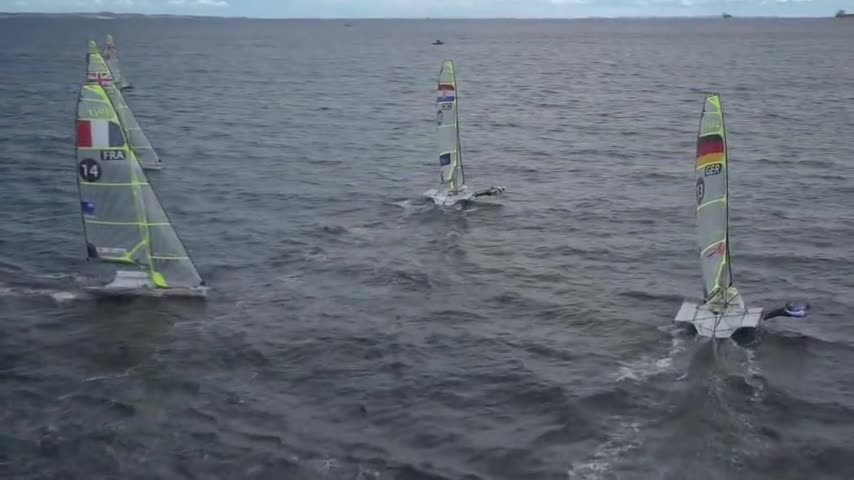 Aahrus - Navigation 49er Medal Race (images brutes presse)
