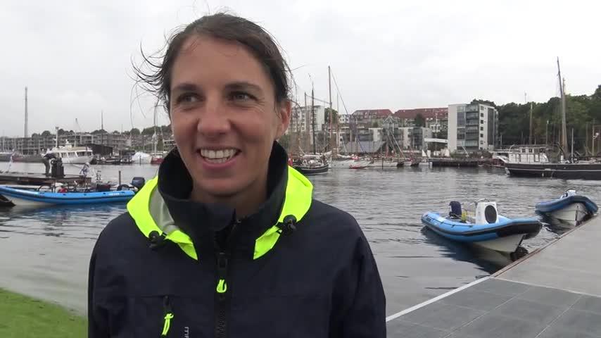 Aarhus - ITW de Charline Picon Vice Championne (images brutes presse)