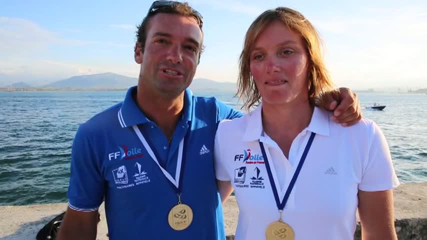 Billy BESSON Marie RIOU CHAMPIONS DU MONDE NACRA