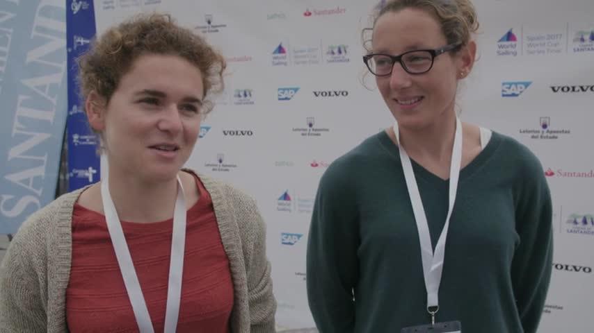 Bout à Bout interview et podium Lili Sebesi et Albane Dubois - Santander Finale World Cup Series