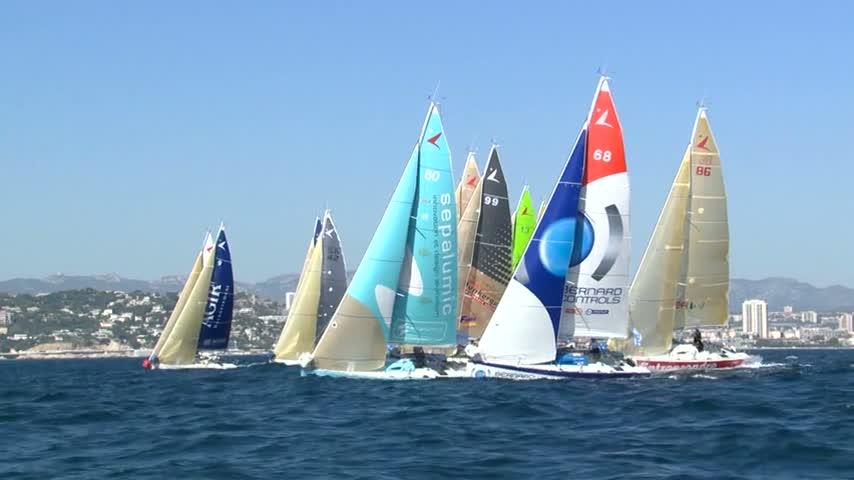 CUT TV départ Eiffage TP Med Race Figaro 14/09/12