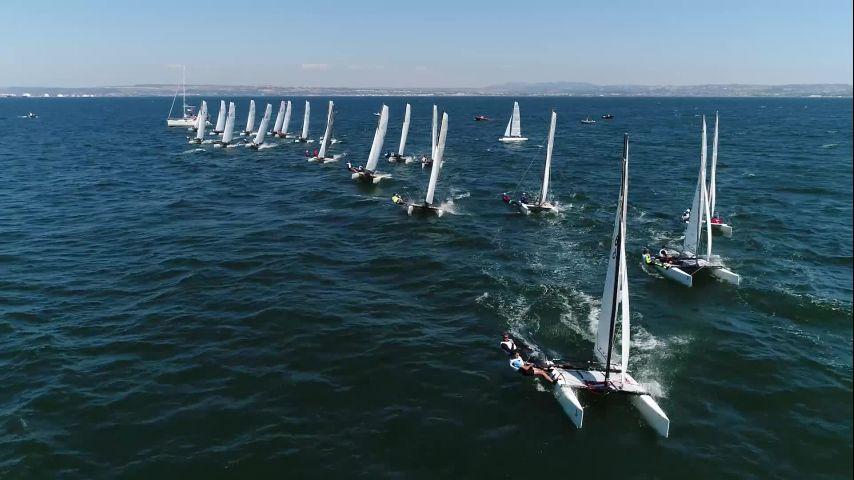 Départ en Tyka vu du ciel sur le Championnat de France Minimes 2019
