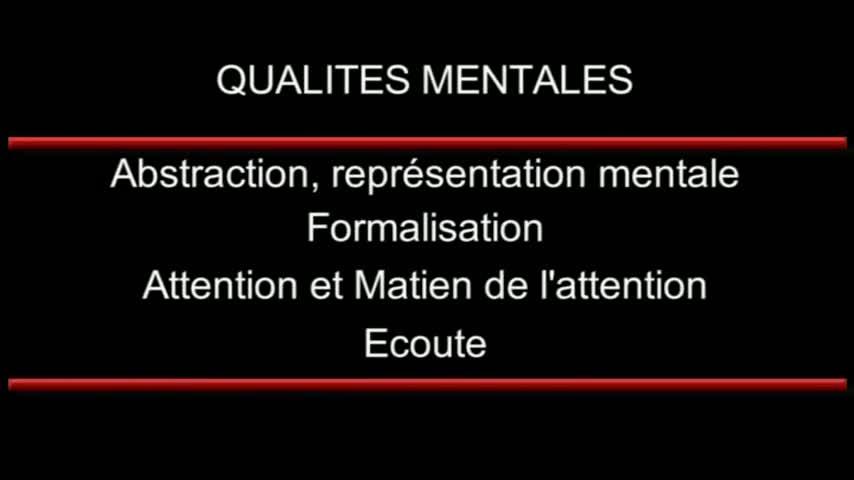 DETECTION - Les qualités mentales