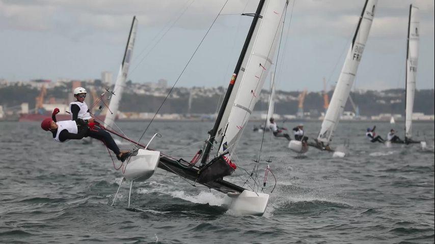 Du vent et du spectacle pour la première journée du Championnat de France Espoirs Glisse 2019 !
