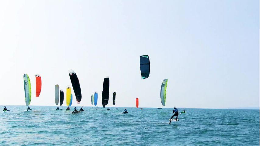 Engie Kite Tour 2021, Un super soleil pour clôturer cette dernière journée à La Grande-Motte !