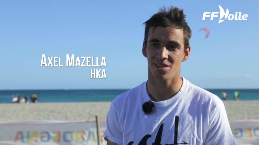 Incroyable doublé pour Axel Mazella, champion d'Europe et Champion du Monde de KiteFoil !