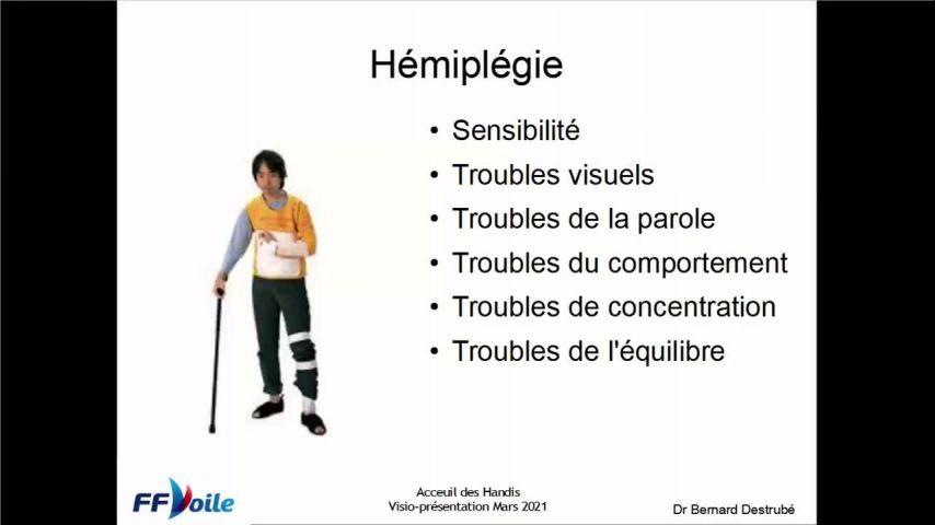 Intervention Bernard DESTRUBE - Educateur handivoile