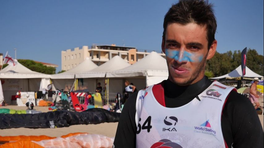 Interview Axel Mazella, champion d'Europe 2019 Kitefoil