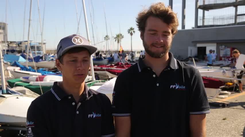 Interview Guillaume Pirouelle & Valentin Sipan Vice-Champions du Monde Jeunes 470 2017