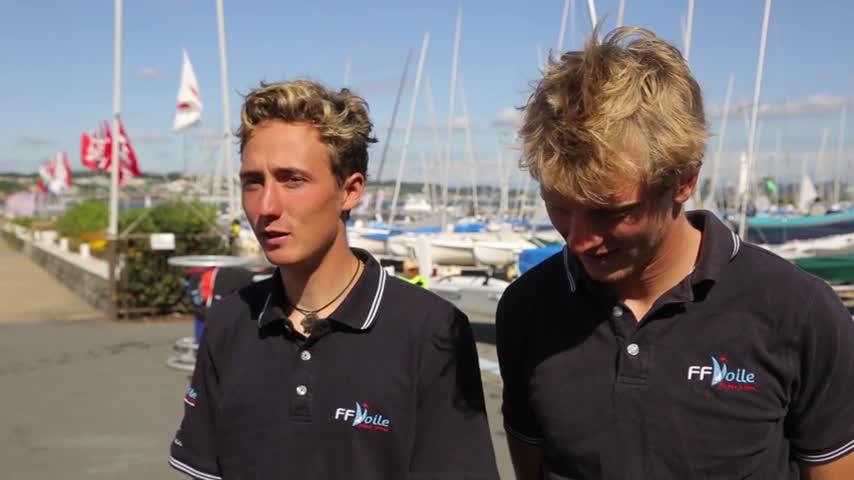 Interview Hippolyte Machetti & Sidoine Dantès Champions du Monde Jeunes 470 2017