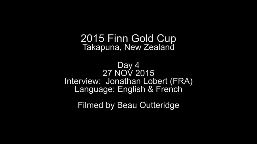 Interview Jonathan Lobert jour 4 - Mondial Finn 2015