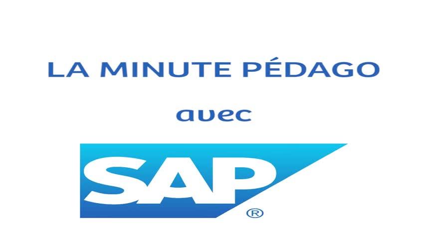 La Minute Pédago avec SAP