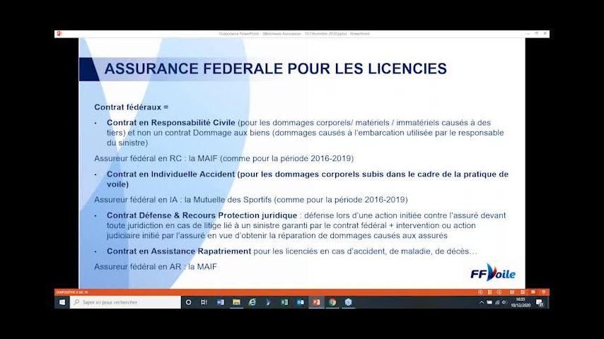 Les assurances fédérales