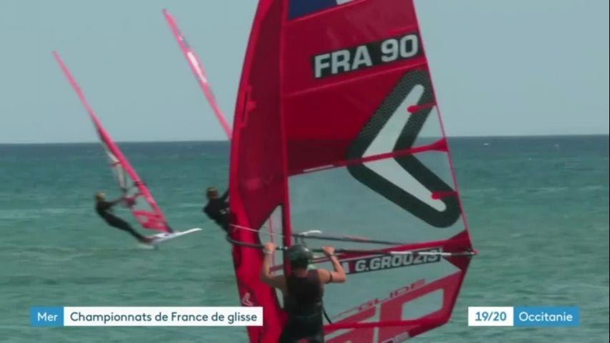 Reportage France 3 Occitanie sur le Championnat de France Extrême Glisse Foil 2021