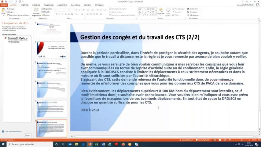 Seminaire CTS 20200514 - Situation CTS