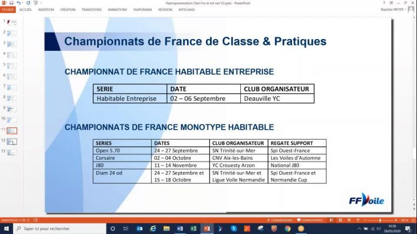 Seminaire CTS 20200528 - Evolutions des championnats de France
