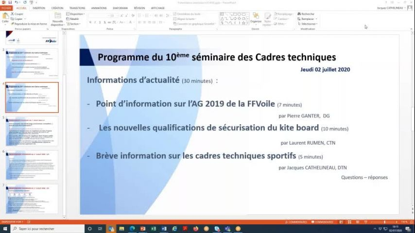 Seminaire CTS 20200702 - Point AG2019