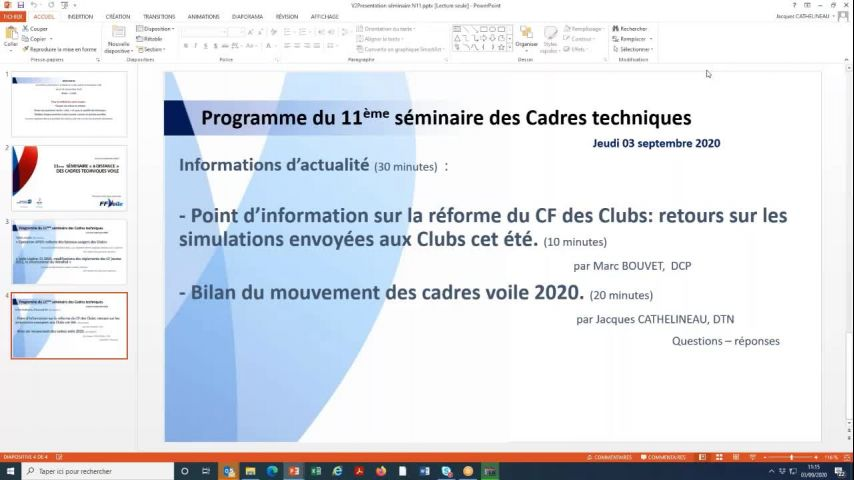 Seminaire CTS 20200903 - Dispositif sanitaire COVID19
