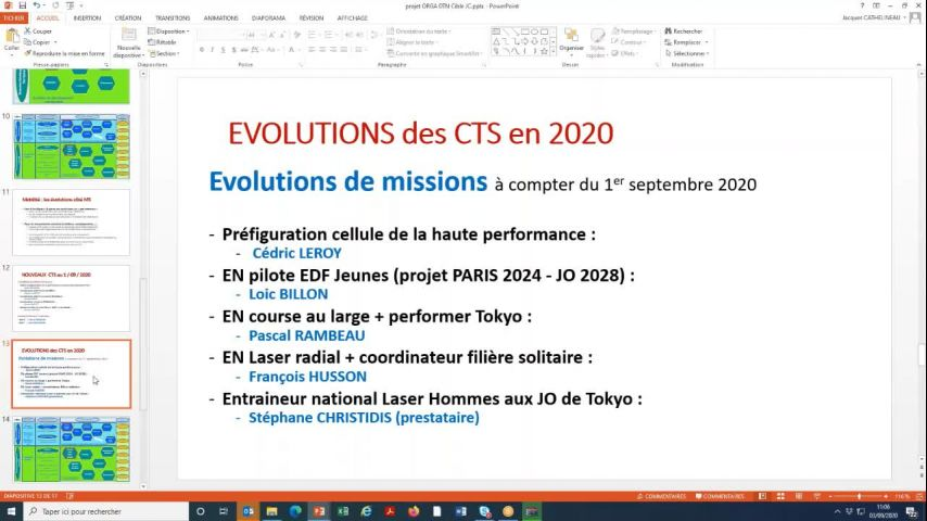Seminaire CTS 20200903 - Point mouvements CTS