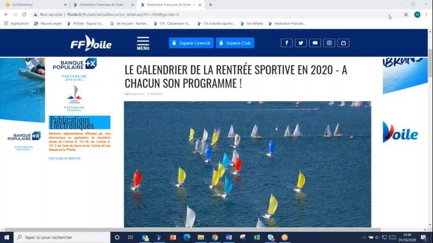 Seminaire CTS 20201001 - Point compétitions à venir