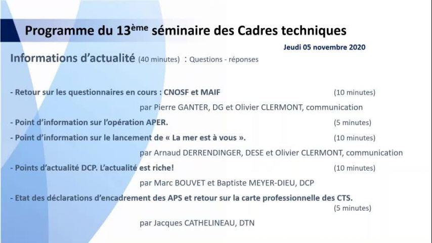 Seminaire CTS 20201105 - Point Carte Professionnelle