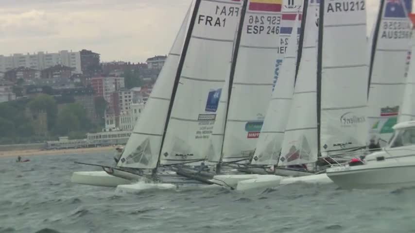 Victoire Besson Riou Nacra 17 ISAF Worlds Santander