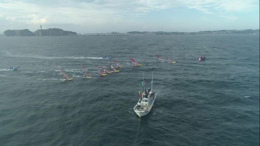 WCS Enoshima 2019 - BAB jour 4 : Medal Race. Victoire Quentin Delapierre et Manon Audinet Nacra 17 et Louis Giard RSX