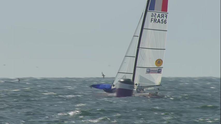 WCS Enoshima 2019 - Medal Race Nacra 17. Victoire Quentin Delapierre et Manon Audinet