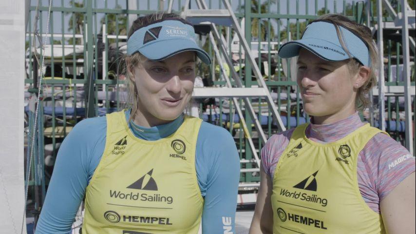WCS Miami 2020 - BAB Medal Race - Victoire Camille Lecointre et Aloise Retornaz